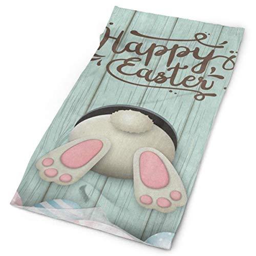 (Headband Happy Easter Egg Bunny Wooden Outdoor Scarf Mask Neck Gaiter Head Wrap Sweatband Sports Headwear)