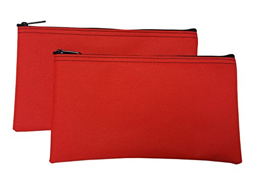 Zipper Bags Poly Cloth Value Package of 2 Bags (Orange)