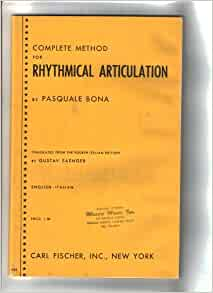 Bona rhythmical articulation