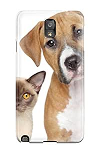 New Style ZippyDoritEduard Hard Case Cover For Galaxy Note 3- Cat And Dog