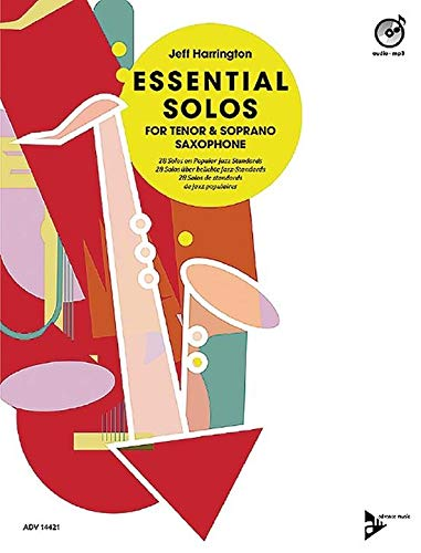 (Essential Solos for Tenor & Soprano Saxophone - 28 Solos on Popular Jazz Standards - Essential Solos Series - edition with CD - ADV14421)
