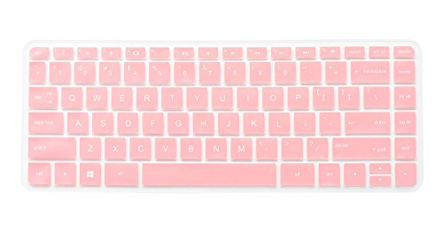 CaseBuy Keyboard Protector Cover for HP 14-ab 14-ac 14-ad 14g-ad 14-an 14-ax Series,14-ab010 14-ab167us 14-ac159n 14-ad006 14-an010nr 14-an013n 14-an080nr 14-ax010nr 14-ax020nr(Pink)