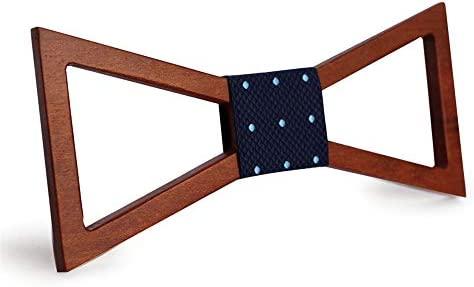 Corbata de lazo de madera para hombre Corbata minimalista hueca ...
