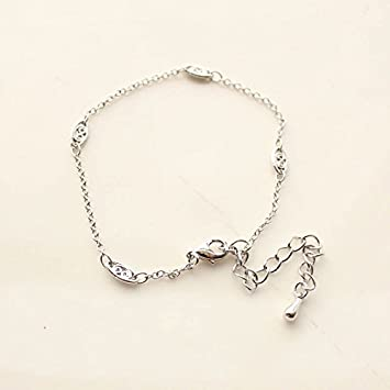 Amazon Com South Korean Fashion Style Silver Bracelet Bracelet