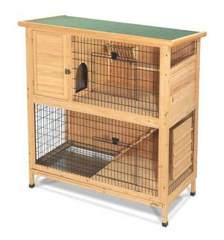 Super Pet 2 STORY PREMIUM WOOD RABBIT HUTCH 48 in
