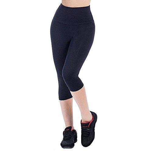 Bwell Sportswear 2385 - Pantalón pirata para mujer, color negro
