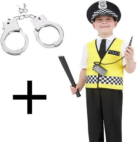 MFD Disfraz de policía para Hombre y niño, Uniforme de policía + ...