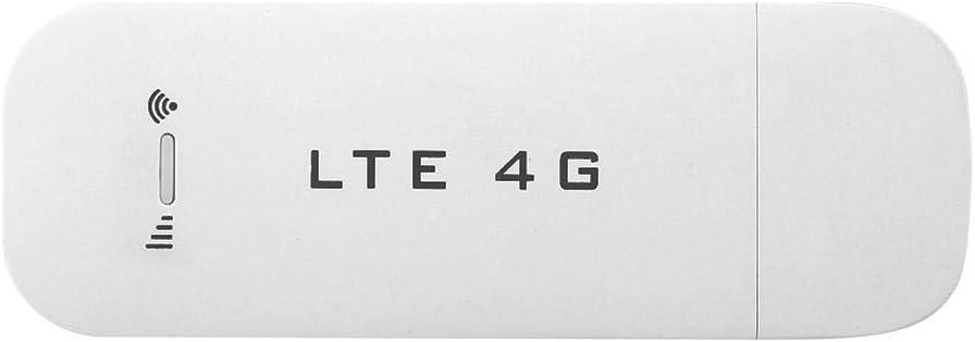 Yosoo Health Gear 4G LTE USB Modem, Wireless USB Network Adapter, Portable WiFi Hotpots Router for Desktop Laptop PC(with WiFi)