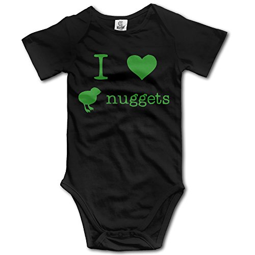 I Love Chicken Nuggets Funny Baby Onesie Unisex Logo Print Cherished Novelty Romper Baby Bodysuit (Best Frozen Chicken Nuggets For Toddlers)