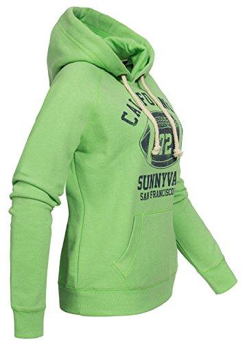 Brave Soul - Sudadera con capucha - para mujer verde manzana