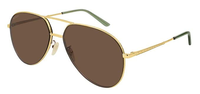 fb5bc786d3f Image Unavailable. Image not available for. Color  Gucci GG0356S Sunglasses  006 Gold ...