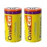 2PC OmniCel ER26500 3.6V 8.5Ah Size C Standard