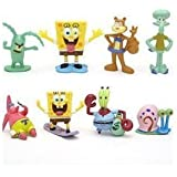 "SpongeBob SquarePants Spongebob 2"" Figure Set of 8 Multicoloured, 1pac"