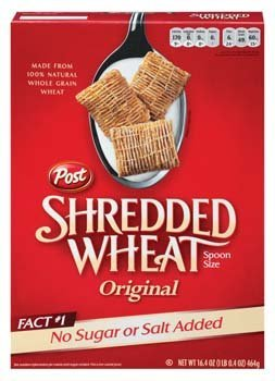 Post Shredded Wheat Original Spoon Size Cereal, 16.4 Ounce (Pack of 12)
