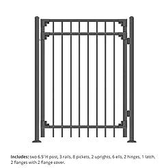 XCEL - Black Steel Fence Gate Cortina St...