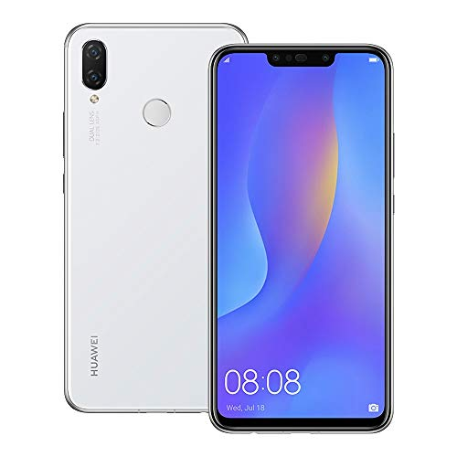 Huawei nova 3i (INE-LX2) 4GB / 128GB 6.3-inches Dual SIM Factory Unlocked - International Stock No Warranty (Pearl White)