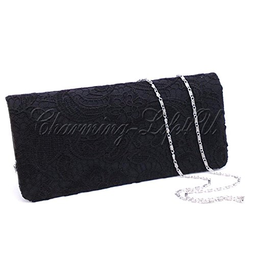 EVENING TM Crystal WEDDING PARTY SPARKLY CLUTCH WOMENS BAG NEW LADIES Elegant PROM DIAMANTE Black 2 Wocharm Satin BRIDAL BRAND pzpdq