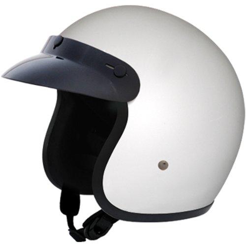 Daytona Basic/Custom D.O.T. Approved 3/4 Shell Cruiser Motorcycle Helmet - Hi-Gloss White / X-Large