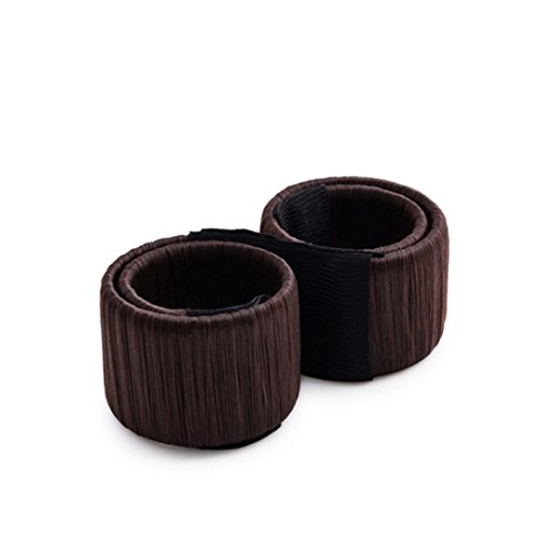 1PC Donuts Bud Head Band Ball French DIY Tool Hair Hair Accessories For Hair Style coffee by HAHUHERT (Image #1)