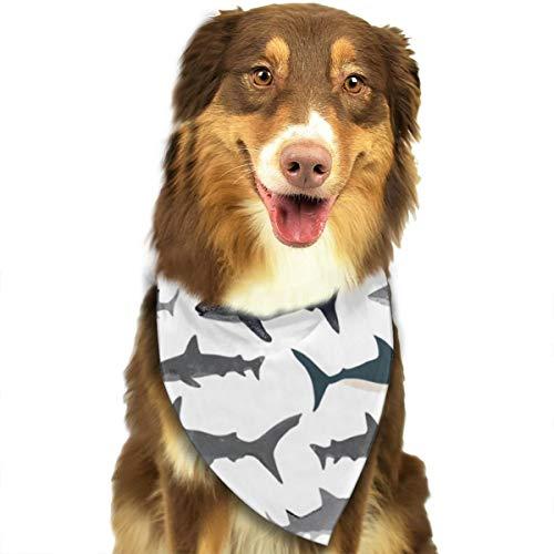 ZZJIAK Dog Bandana Scarf Sharks Nautical Boys Triangle Bibs Printing Kerchief Set Accessories Dogs Cats Pets -