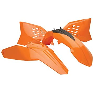 2008-2011 E-Start Acerbis Replica Plastic Kit Orange for KTM 300 XC-W