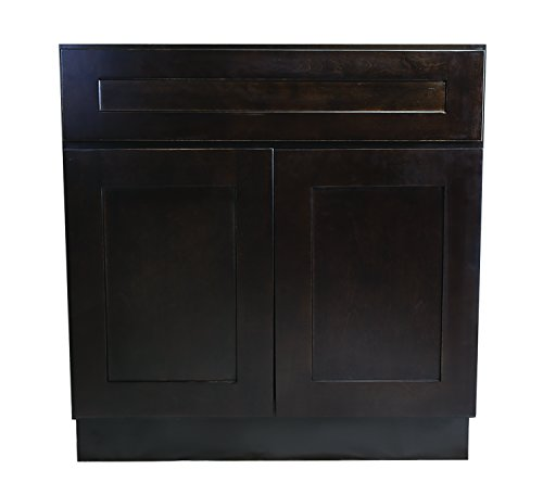 Kitchen Sink Base Cabinet (Design House 562090 Brookings 42-Inch Sink Base Cabinet, Espresso Shaker)