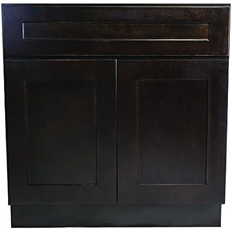 Design House 620278 Brookings 30 Fully Assembled Kitchen Sink Base Cabinet Espresso Shaker