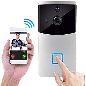 Amazon.com : Doorbell, Wireless IP Security Camera Outdoor ...