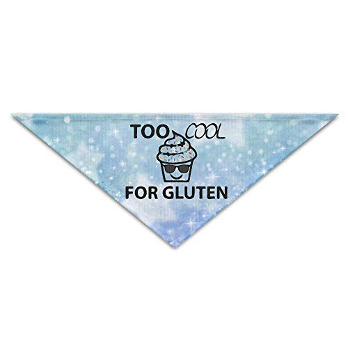 DKFDS Too Cool for Gluten Free Cupcake Sunglasses Baby Pet Dog Scarves Puppy Triangle Bandana Bibs Triangle Head Scarfs -
