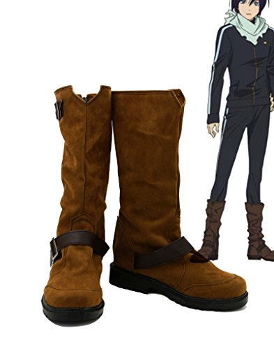 [Noragami ARAGOTO Yato Cosplay Shoes Boots Custom Made Suede] (Yato Cosplay Costume)