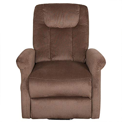 BONZY Lift Recliner Chair Power Lift Chair with Gentle Motor Brushed Cover- Brushed Chocolate
