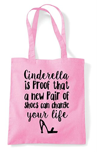 Is Of That A Proof Change Pair Life Tote Shoes Can Shopper Your New Cinderella Bag Pink Light dtwqxCEYx