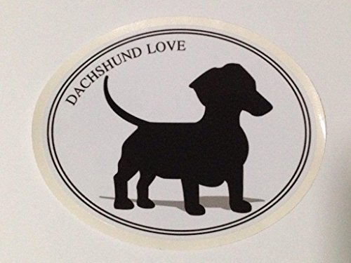 Dog Decal DACHSHUND I Love my DACHSHUND Bumper Sticker Decal for Window Car Laptop Wall In Door&Out door