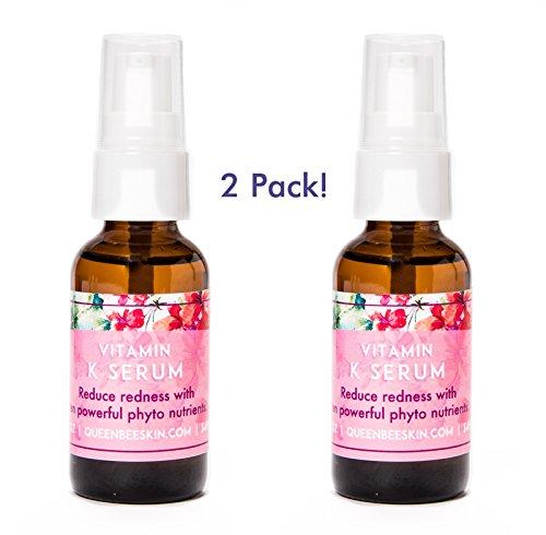 Vitamin K Skincare Organic Capillary Strengthening Facial Serum Vitamin K (2pack) for Rosacea
