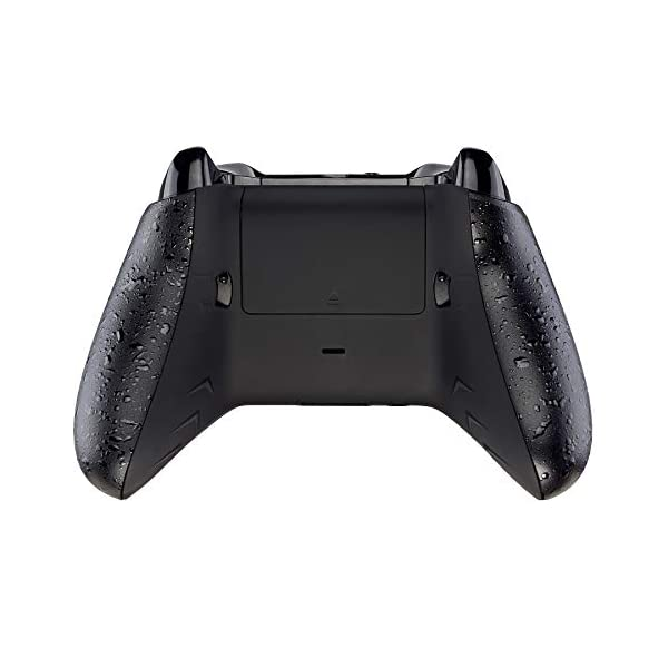 eXtremeRate FlashShot Trigger Stop Bottom Shell Kit for Xbox One S & One X Controller, Redesigned Back Shell & Textured Black Handle Grips & Hair Trigger for Xbox One S X Controller Model 1708 7