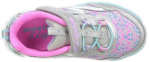 Skechers multicolour Baskets Multicolore Fille Lights Galaxy silver rYq807rw