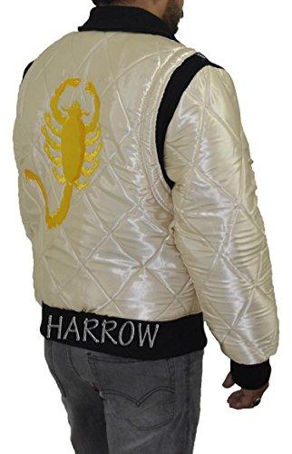 Fahren Scorpion Wende-2 in 1 Golden und schwarz GS Satin Jackets. Sie erhalten 2 Jacken in 1 Preis