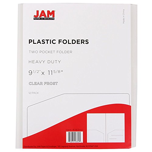 JAM Paper Heavy Duty Plastic Two Pocket Presentation Folders - Clear - 6/pack Photo #3