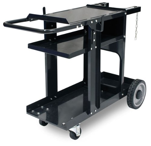 Eastwood MIG TIG Plasma Welding Durable Cart With 350 Lbs Weight Capacity 3 Shelves Cable And Gas Bottle Storage