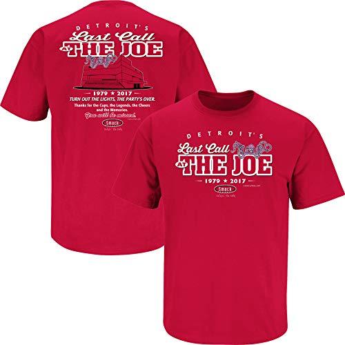 (Detroit Hockey Fans. Last Call at The Joe Red T-Shirt (Sm-5X) (Short Sleeve, X-Large))