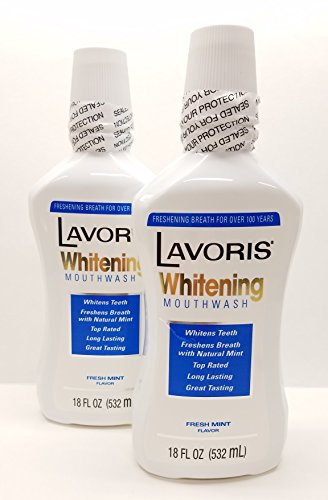 Lavoris Mouthwash Whitening Rinse 15 oz (Pack of 2)