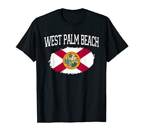 WEST PALM BEACH FL FLORIDA Flag Vintage USA Sports Men Women T-Shirt (Shopping Palm Beach West)