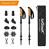 ieGeek Aluminum Trekking Poles - Collapsible Hiking or Walking Sticks for Man Woman - Strong