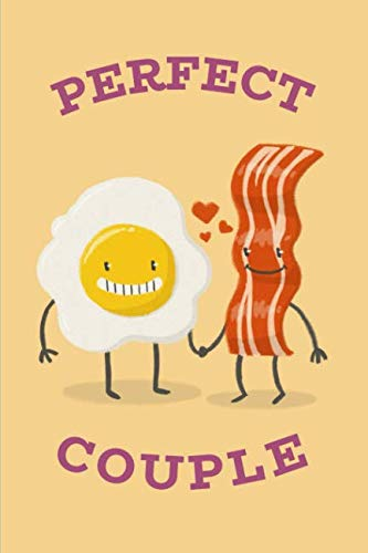 Perfect Couple: Cute Bacon & Eggs Notebook Journal by Rainy Day Dreams