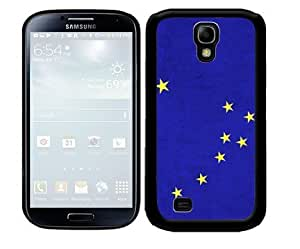 Blue Alaska State Flag with Yellow Stars 2-Piece Dual Layer High Impact Black Silicone Cell Phone Case Cover Samsung Galaxy S4 I9500 by icecream design