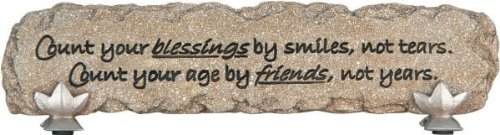Count Your Blessings By Smiles Bar Heartnotes Stone