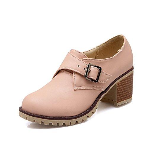 heels Boucle kitten balamasa Imitation Femme shoes cuir Rose pumps wO4p6T