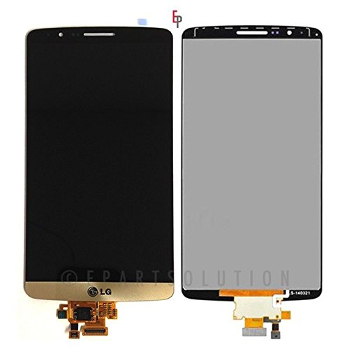 ePartSolution-OEM LG G3 D850 D851 D855 VS985 LCD Display Touch Digitizer Screen Assembly Gold Replacement Part USA Seller (Lg G3 Replacement Screen Gold)