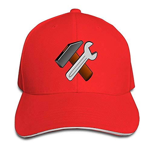 liappo Men's Women's Spanner Wrench Tool Cotton Adjustable Peaked Baseball Cap Adult Sandwich ()