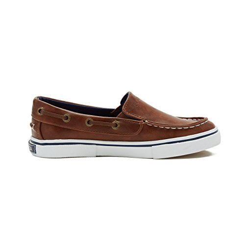 Pictures of Nautica Boy's Doubloon Slip-On Shoe Brown Tumbled Pu 3